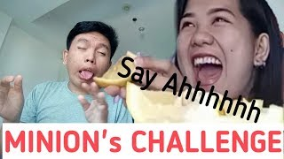 MINION Version Of Eating LEMON With No REACTION Challenge!!!😊