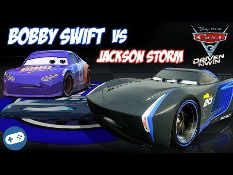 Cars 3 Driven To Win Jackson Storm VS Bobby Swift Gameplay Part 27