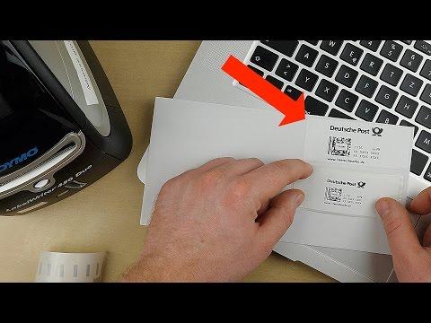 Dymo 450 / Internetmarke drucken / Briefe online frankieren / eFILIALE / ANLEITUNG / Briefmarken