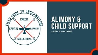 Alimony & Child Support Used For Mortgage Income Qualification