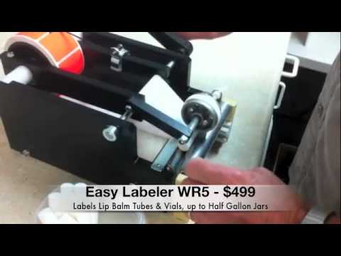 Easy Labeler WR5 Lip Balm Tube & Vial Label Applicator Bottle labeler sold by Easy Labeler