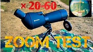 bresser spotting scope 20-60×60 lidl   zoom test