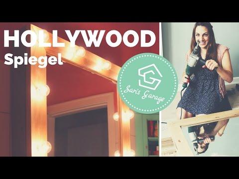 Hollywoodspiegel selber bauen   Spiegel mit Beleuchtung   DIY Schminkspiegel   Theaterspiegel