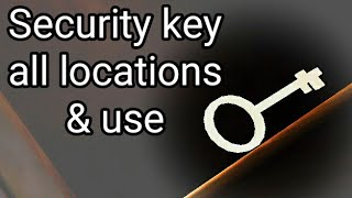 Security key granny 2 locations in Practice mode and use