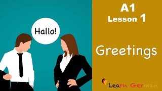 Learn German | Greetings | German for beginners | A1 - Lesson 1