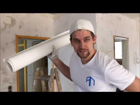 Decke alleine mit Malervlies tapezieren - Vom Wandprofi erklärt!