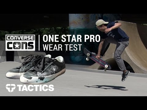 Converse One Star Pro Skate Shoes Wear Test Review – Tactics.com
