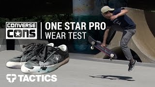Converse One Star Pro Skate Shoes Wear Test Review - Tactics.com