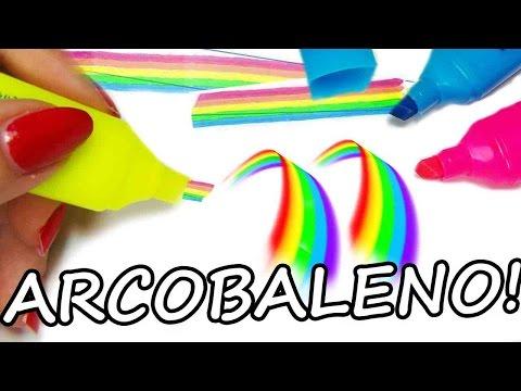 DIY: Come Fare l'Evidenziatore Arcobaleno!! Rainbow Highligther