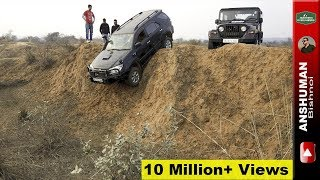 Fortuner, Thar, Storme 400, Endeavour: Trying a vertical climb. 05Feb17
