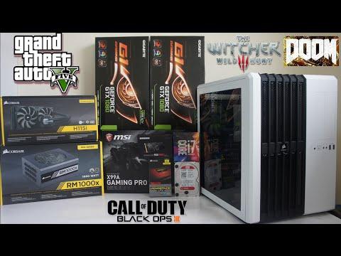 INTEL i7 6850K GTX 1080 SLI PC Build Benchmark & Game Test 4K 2K