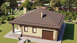 Проект дома 117-C, Площадь дома: 117 м2, Размер дома:  13x13 м