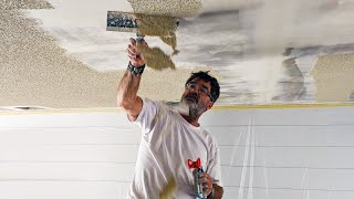 How to Remove Popcorn Ceilings | DIY HOME REMODEL
