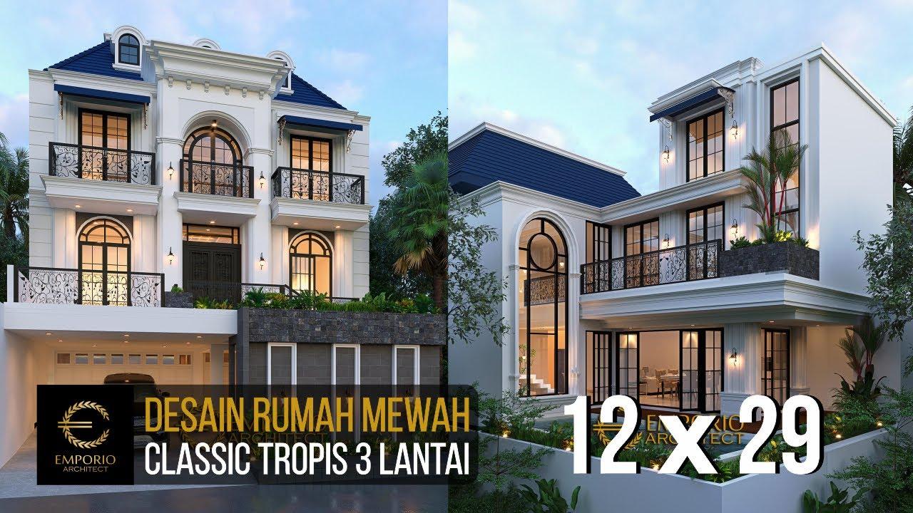 Video 3D Desain Rumah Classic 3 Lantai Ibu Evy - Jakarta Selatan