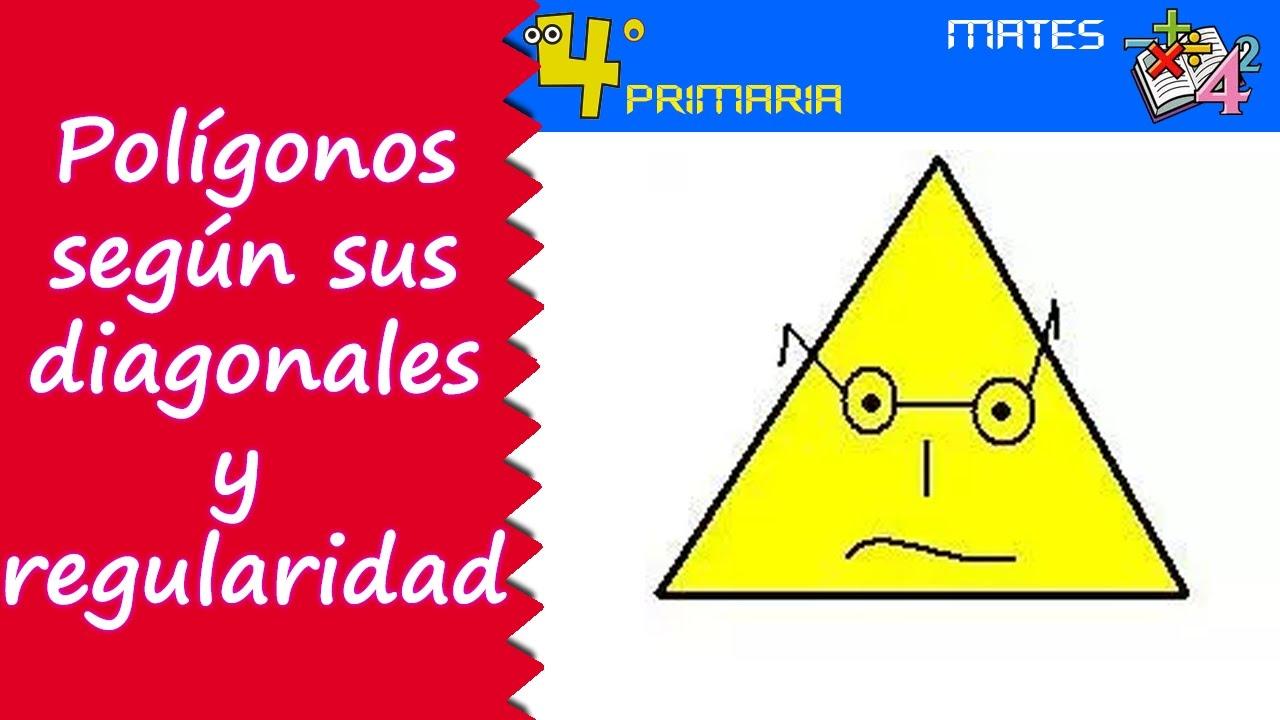 Matemáticas. 4º Primaria. Tema 5. Clasificación de polígonos según sus diagonales y regularidad