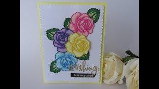Layered Rose Die Card