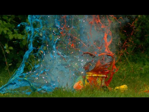 Slow Motion And Explosives Make Painting A Blast