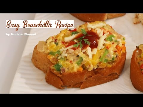Easy Bruschetta Recipe Best Italian Finger Food Party Appetizer Recipe