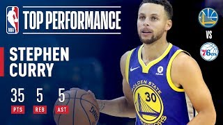 Stephen Curry Scores 35 Points vs. the 76ers | November 18, 2017
