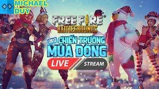 [🔴Garena Free Fire] Mai Bảo Trì Update OB13 - Leo Rank Ngày Cuối OB12 Cùng ACE ! | Michael Duy