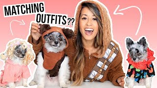 MATCHING OUTFITS WITH MY DOG! Pet Clothing Haul | Ariel Hamilton