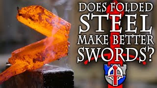 The mysteries of folded steel in swords REVEALED! #katana