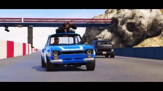 Grand Theft Auto V   Fast & Furious 6   Tank Scene Full HD Animation