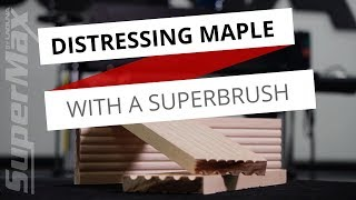 Adding Texture to Cedar Wood - Distressing Wood With A SuperBrush Sander