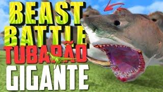 TUBARÃO GIGANTE! (MEGALODON) - Beast Battle Simulator ‹ Bitgamer ›