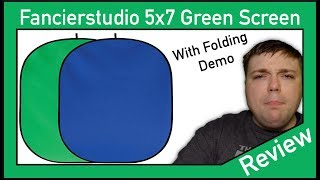 FancierStudio 5x7 Collapsible Green Screen Review and Folding Demo - MumblesVideos Product Review