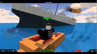 Titanic sinking *ON ROBLOX*