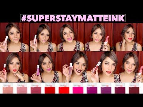 MAYBELLINE SUPERSTAY MATTE INK Lip Swatch&Review | Jessica Godinez