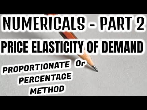 NUMERICALS - PRICE ELASTICITY OF DEMAND - PART 2