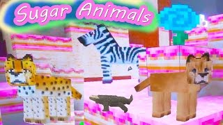 Sugar Animals - Cookieswirlc Plays Minecraft Candy Sugar Land Gaming Cake World