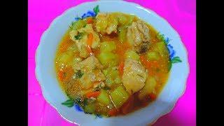 Как вкусно приготовить рагу с курицей и кабачками  Ну ооочень вкусное блюдо!!!