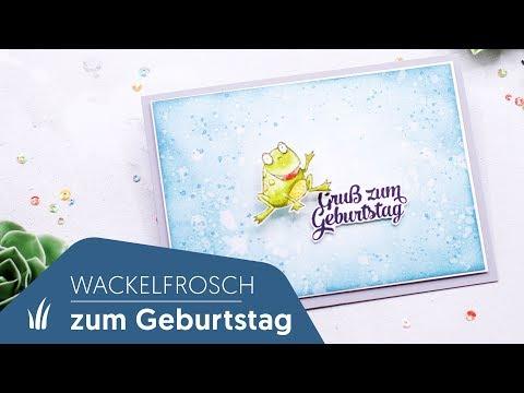 🐸Wackelfrosch - lustige Geburtstagskarte mit dem Stempelset Froschkönig