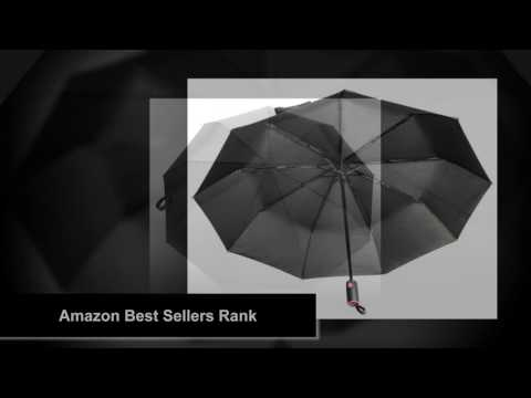 Lightweight Dupont Teflon Travel Umbrella, Virtually Indestructible Windproof Canopy, Lifetime Repla