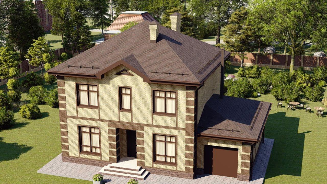 Проект дома 163-B, Площадь дома: 163 м2, Размер дома:  11x14 м