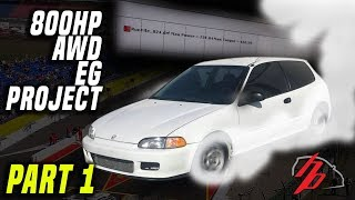Download Video AWD B18 Turbo Hatch Sleeper Project Gets On The Dyno! 700+WHP MP3 3GP MP4