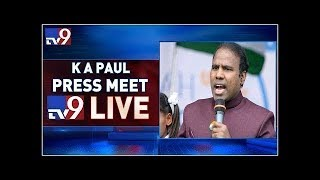 KA Paul Press Meet LIVE || Vijayawada - TV9