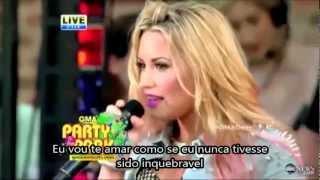 Demi Lovato   Unbroken GMA Live 2012 Good Morning America (Legendado/Tradução)