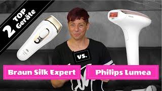 IPL Geräte Test: Braun Silk Expert Pro 5 vs. Philips Lumea Prestige - [ Videobeschreibung beachten ]