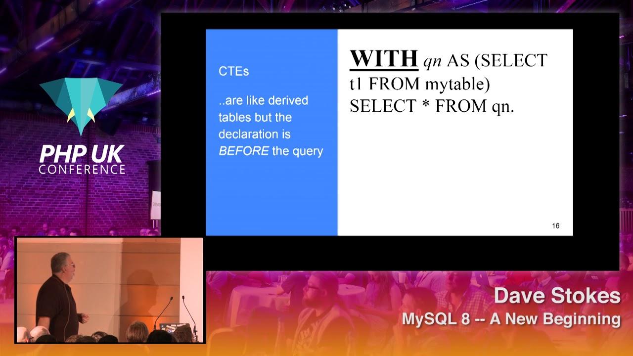 MySQL 8 -- A New Beginning