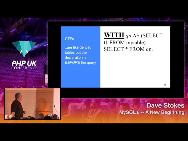 MySQL 8 -- A New Beginning