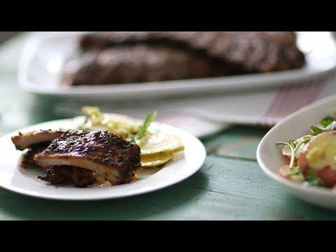 Tuscan Ribs with Balsamic Potato Salad- Everyday Food with Sarah Carey