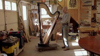Repairing the Body of a Pedal Harp