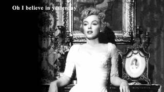 Marilyn Monroe  song Yesterday :Frank Sinatra