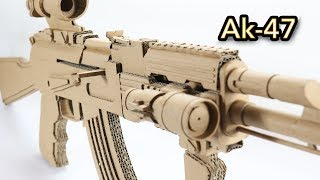 Amazing AK 47 Gun | How To Make Cardboard Gun Shoots