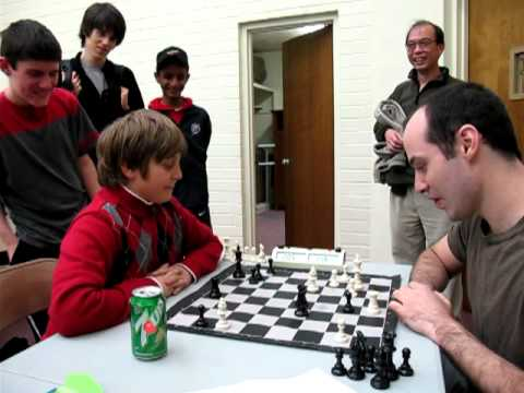 Kid beats an International Master (chess). He'd later become the youngest US Grand Master at the age of ~13.