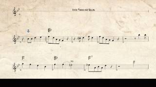 Louis Armstrong jazz trumpet solo - When the Saints go Marching in - Bb transcription